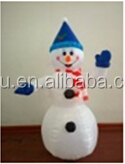 120cm Airblown Inflatable christmas holiday snowman wearing black hat 4 Ft Snowman
