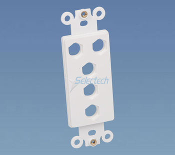 115 type 5 port rj45 inset RCA dual face plate