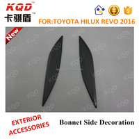 Cars toyota hilux pick up black bonnet side decoration cove for hilux revo 2016 toyota hilux revo accessori