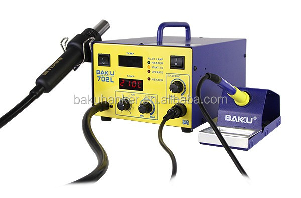2017 Favourable Price 2 in 1 BAKU New Design BK702L Lead free hot air desoldering SMD Rework Station