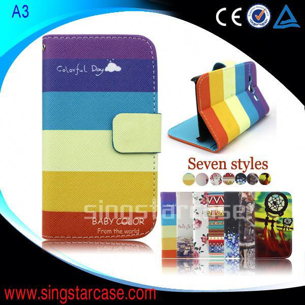 For Samsung Galaxy Alpha Flip Cover Wholesale Printed Stand Wallet Leather Case Cover For Samsung Galaxy Alpha G850F