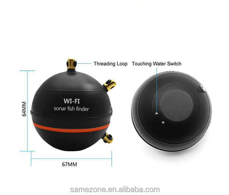 Wireless wireless Bluetooth Smart Fish Finder for iOS and Android devices.