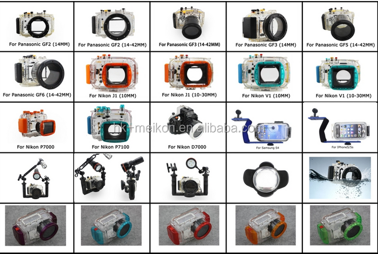 Meikon factory price X-T2  Underwater Camera Diving Waterproof Housing case for Fujifilm X-T2 130FT/40M (16-50mm lens)
