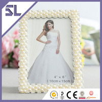 Photo Picture Frame Wholesale Rhinestone Pearl photo Frames For Wedding Decoration