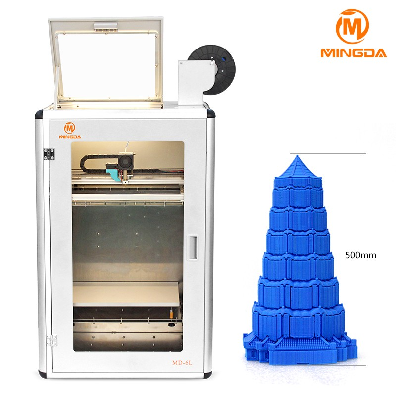industrial 400x300x500mm large print size MD-6L 3D printer machine for designer and factory