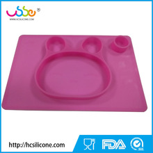 Silicone Baby Placemats for Feeding With Suction Plate
