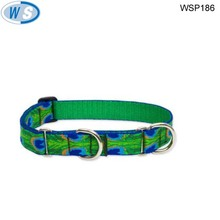 High quality colorful round braided leather dog collar
