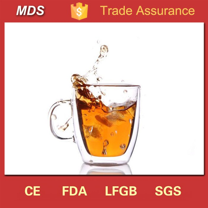 New fashion best double walled glass coffee mugs for sale