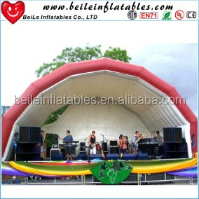 Advertising red and white color giant inflatable dome tent and popular party tent