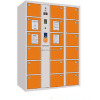 Multi Doors Electronical Storage Units Acrylic Bathroom Cabinet Compartment Steel Locker