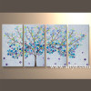 Wholesale Modern Wall Arts And Craft Tree Handmade Oil Painting
