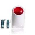 Wireless red flashing light indoor wireless alarm siren