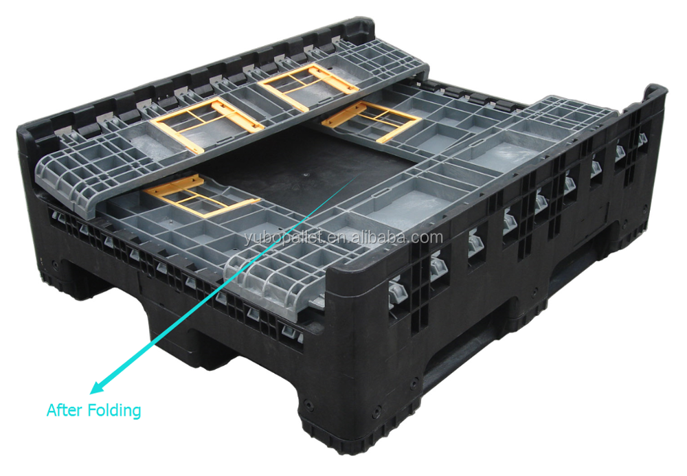 Portable heavy folding box pallet duty max cube container