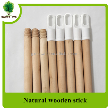 natural wood handles with cap