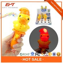 Crazy selling kids musical plastic led duck sticks toy for sale