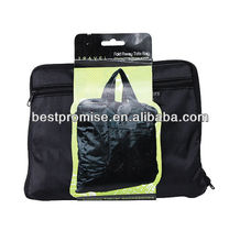 Fold Away Tote Bag With Outer Zip Pocket