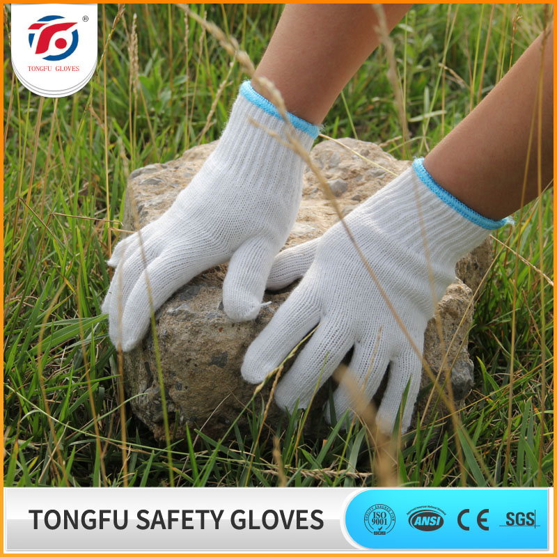 organic cotton packing safety gloves