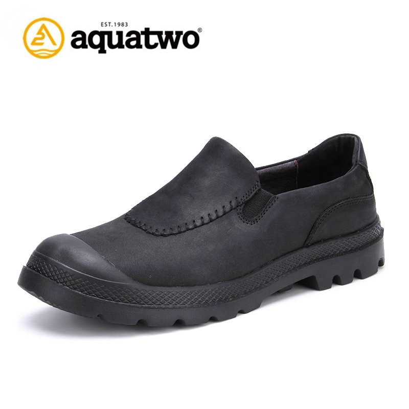 Wholesale Aquatwo Branded Casual Style Fashion Leather Office Shoes For Business Men With High Quality