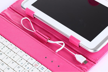 New 7 inch Tablet PC Stand Leather Keyboard Case With Holder,USB Cable,Touch Pen China Supplier