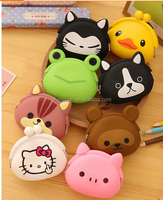Silicone rubber Small bulk wholesale silicone coin purse with high quality