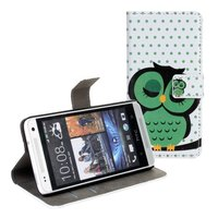Cute Credit Card Wallet Magnetic Flip Leather Case for HTC ONE Mini M4 PU Leather Case with Stand Cell Phone Cases