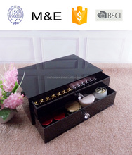 Fashion trend Luxury Beauty Black Acrylic Makeup Cosmetic Box