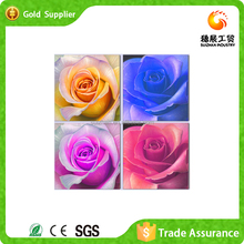Wholesale Home Decoration 5D Diy Crystal Full Diamond Painting Four Colour Rose Cross stitch