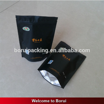 2015 customized empty tobacco pouches with ziplock/hand rolling tobacco bag pouches manufactured in China