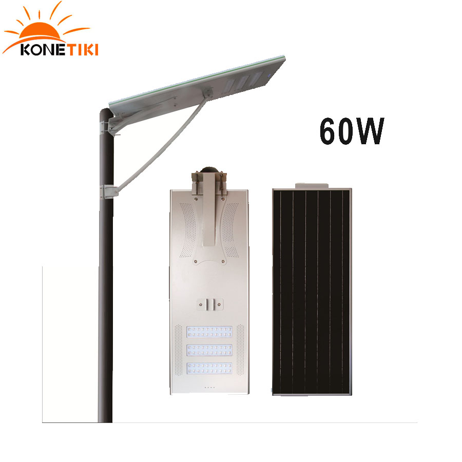 60W Solar LED Street Lighting All In One Solar Energy Powered LED Street Light For Sale