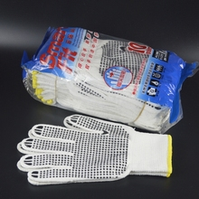 pvc dotted working glove 500g gray kitted glove