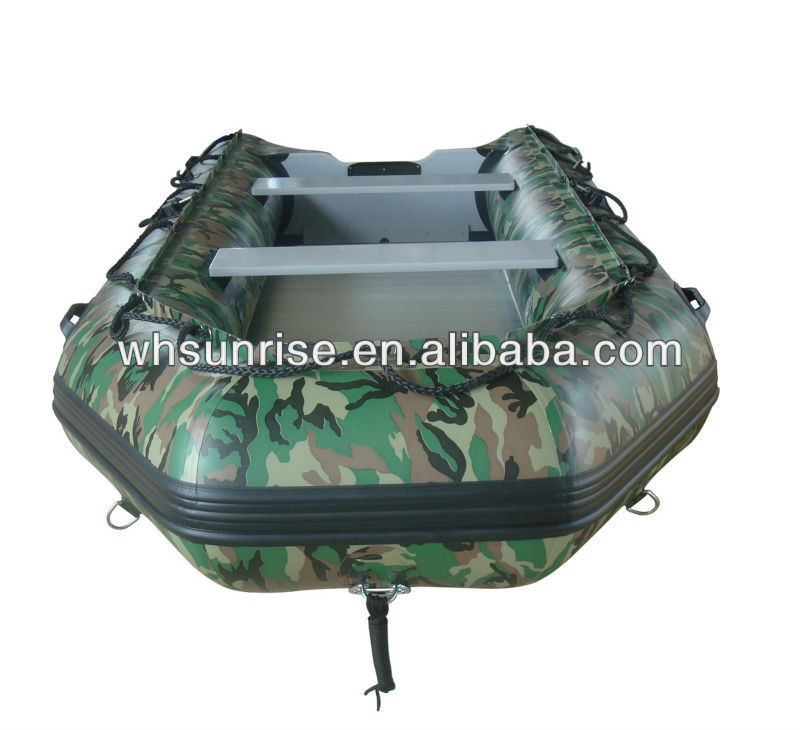 Camouflage military inflatable boats