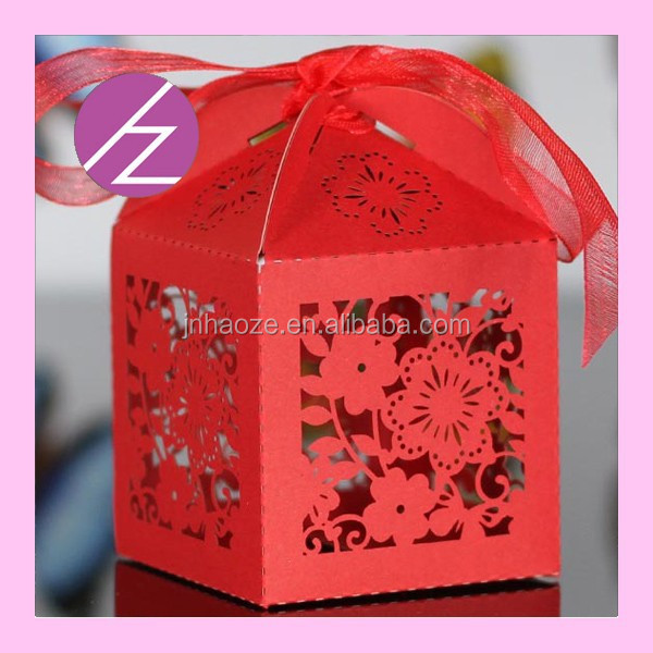 Chinese wedding favors and gifts sweets boxes with flowers TH172