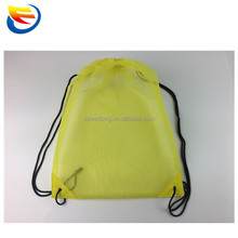 Promotional lightweight breathable beach drawstring mesh backpack