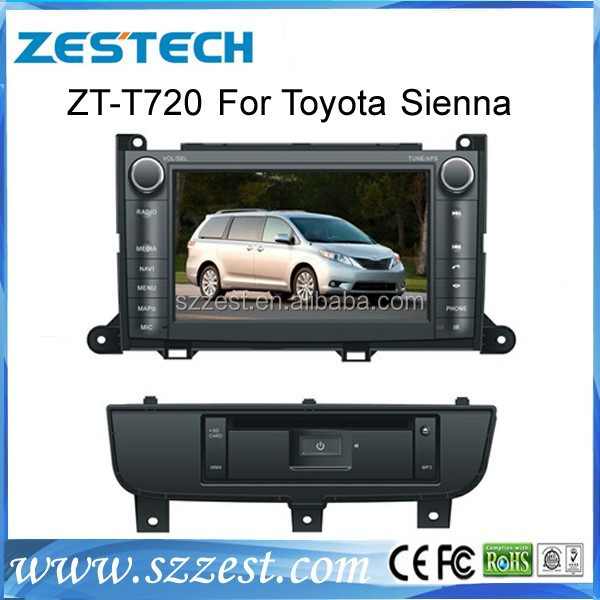 7 inch car dvd gps navigation system fit for toyota sienna best selling car dvd player for sienna with car gps navigation