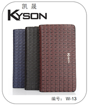 Casual style handmade mens leather high end wallets manufacturer