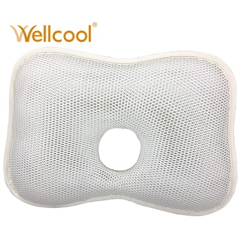 Eco anti roll positioner breathable 3d cooling spacer mesh neck newborn baby head shaping pillow