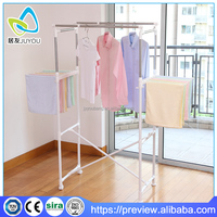 Folding space saving home baby clothes stand