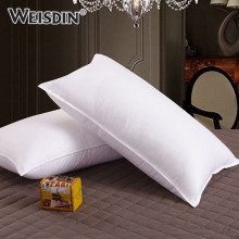 Promotional Products Custom hotel white 100% cotton proof fabric duck down feather pillow