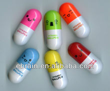 colored smilely face capsule pen