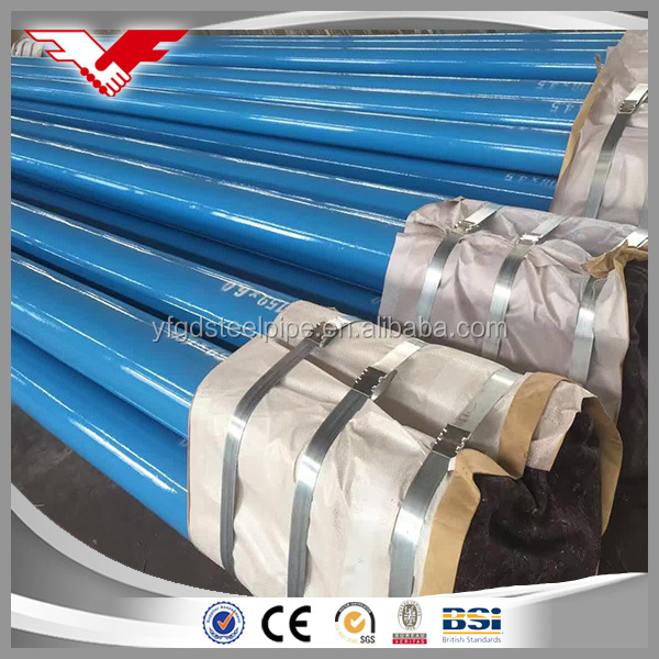 FBE coated pipes/ 3PE coating/epoxy painting meet with AWWA C210 standard in China mill