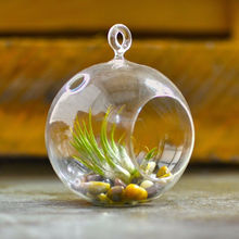 MH-KX045 hand blown decor hanging glass ball with hole