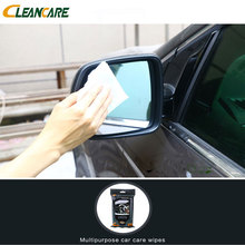 Hot sale promotional car glass cleaning wet wipes for cars