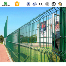 Green color welded mesh wall fence designs with gate for boundary wall