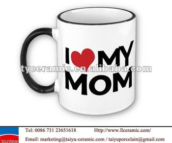 i love my mom ceramic gift mug