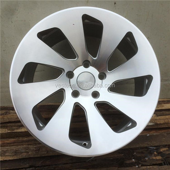 17inch silver machined face new design aluminum wheel