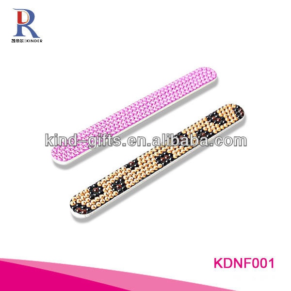 Colorful Finger Glass Nail File rhinestone nail file