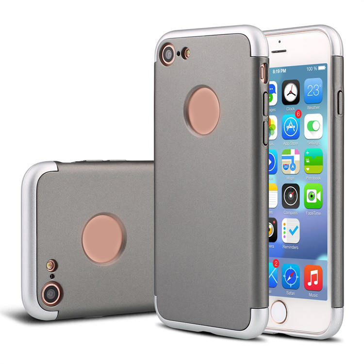 Slim Detachable Design Plastic Metallic Texture Hard Back Cover Case for iPhone 5 6 7