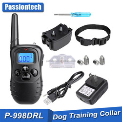 300 meters range training collars for small dogs with backlit buttons