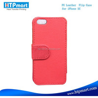 High Quality Sublimation Blank Leather Wallet Phone Cover For Iphone5c Of Good Price