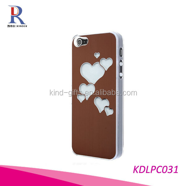 Lover Hearts Style Color Changing LED Flash Shinning Light Case Cover for IPhone 5